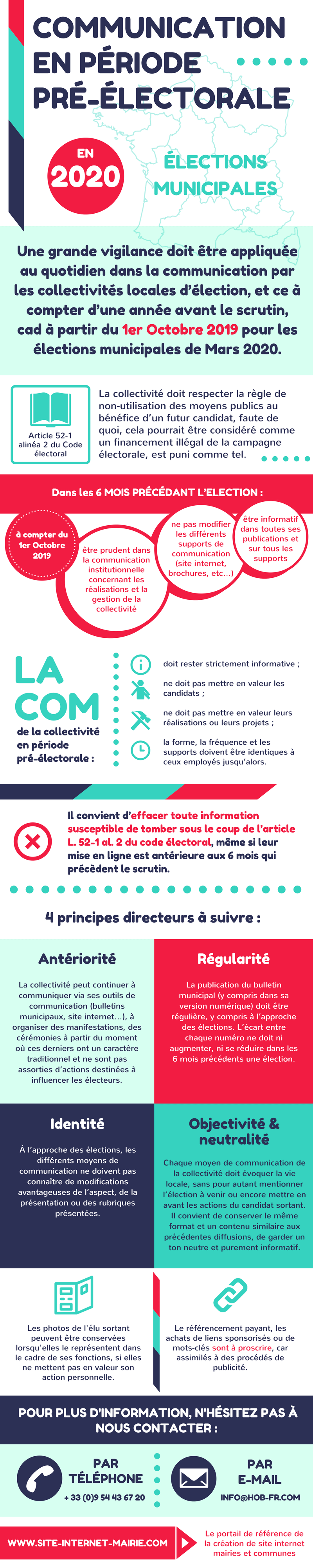 infographie communication pre electorale site internet mairie
